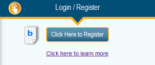 Login and Register buttons